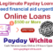 Legitimate Payday Loans Online